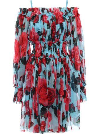 Dolce & Gabbana Chiffon Printed Dress