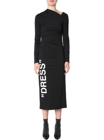 Off-White Dress With  Dress  Print