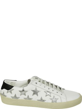 Saint Laurent Flat Heel Leather Up Stars