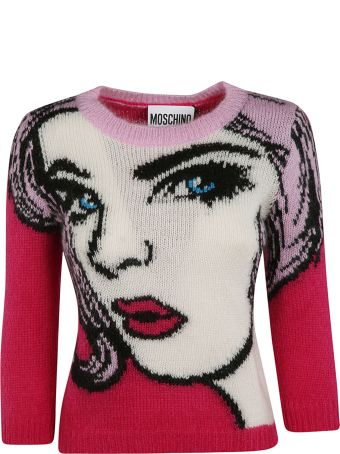Moschino Face Detailed Sweater