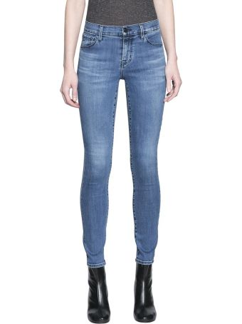 J Brand Mid Rise Skinny Cotton Denim Jeans