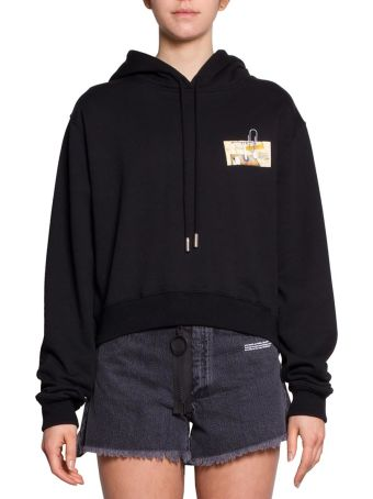 Off-White Letters Cotton Hoodie
