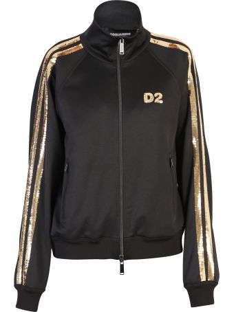 Dsquared2 Black Sequinned Sweatshirt