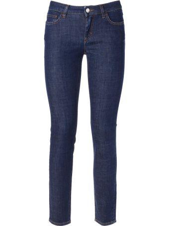 Dolce & Gabbana Queen Slogan Skinny Fit Jeans