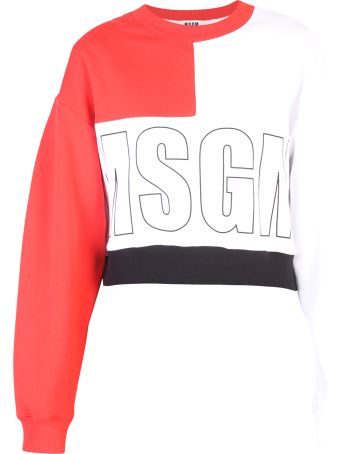 MSGM Multicolored Cropped Sweatshirt