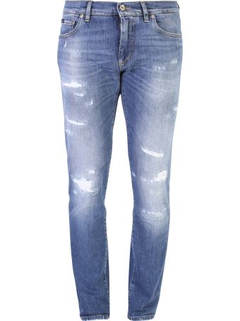 Dolce & Gabbana Distressed Denim Jeans