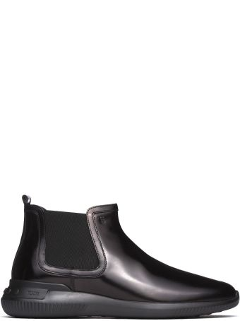 Tod's Ankle Boots In Black Smooth Leather B