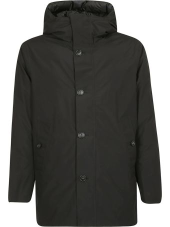 Woolrich Buttoned Hooded Jacket