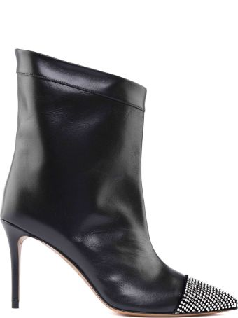 Alexandre Vauthier Cha Cha Crystal-embellished Leather Booties