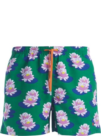 Gallo Beach Boxer With Waterlilies Print