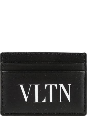 Valentino Garavani Vltn Logo Print Card Holder