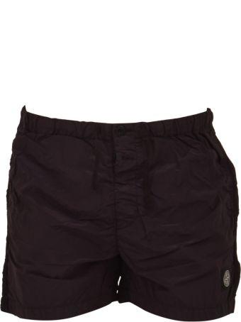 Stone Island Burgundy Swim Shorts