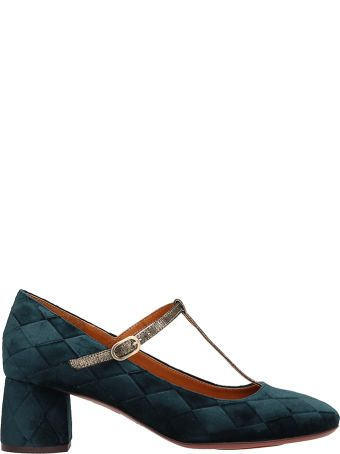 Chie Mihara Decollete In Green Suede