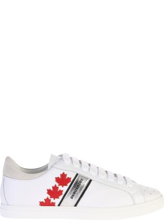 Dsquared2 Patched Leather Sneakers