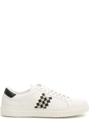 Bottega Veneta Leather Bv Checker Sneakers