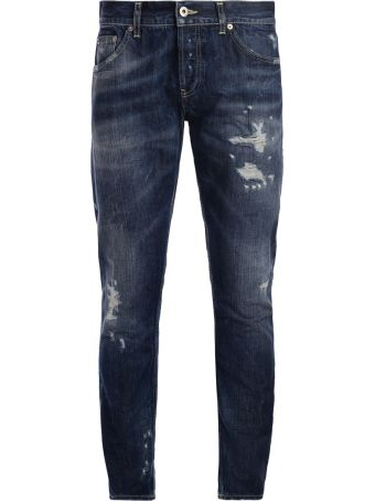 Dondup Mius Blue Washed Jeans With Breakings