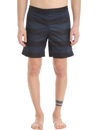 Jil Sander Blue/black Nylon Swimwear