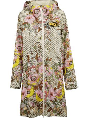 Gucci Floral Print Raincoat