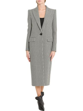 Givenchy Houndstooth Long Coat