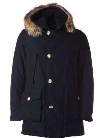 Woolrich Hooded Blue Padded Jacket