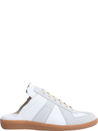 Leather Sabot Sneakers