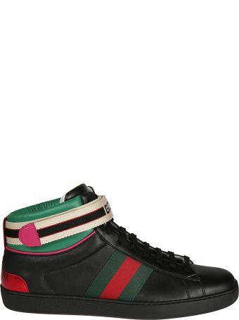Gucci Stripe Ace Hi-top Sneakers
