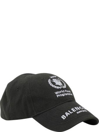 Balenciaga Cappello Con Visiera Wfp Charity Program Embroidey 100%cotton