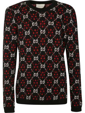 Gucci Monogram Knit Sweater