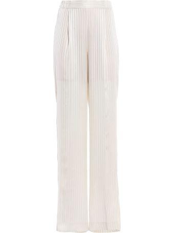 Stella McCartney Trousers Silk  Stripes Shirting