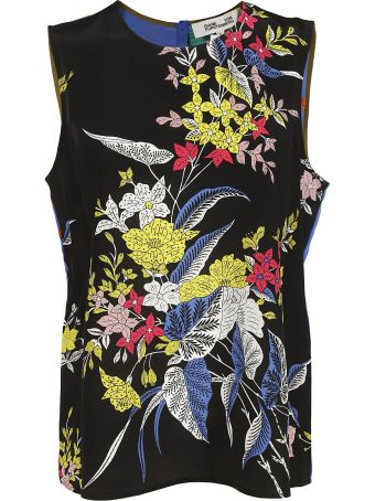 Diane Von Furstenberg Floral Print Top