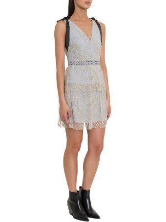 self-portrait Lace Short Dress With Beads Embroidery