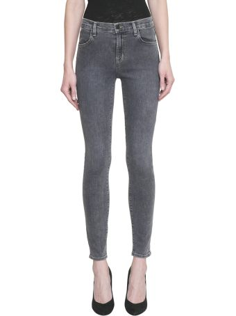 J Brand Maria High Rise Skinny Cotton Denim Jeans