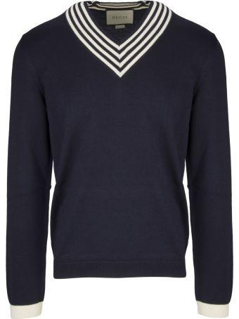 Gucci Striped Neck Sweater