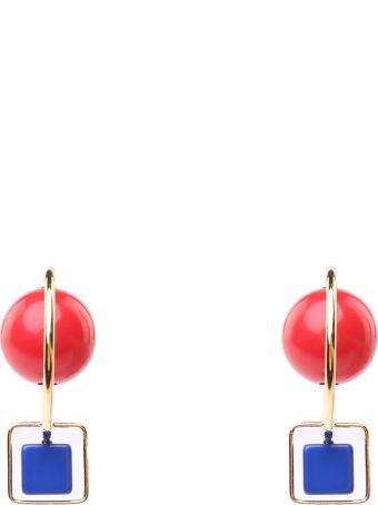 Marni Resin And Metal Hook Earrings
