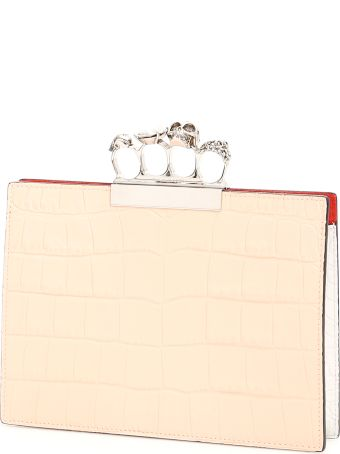 Alexander McQueen Skull Clutch With Four Rings