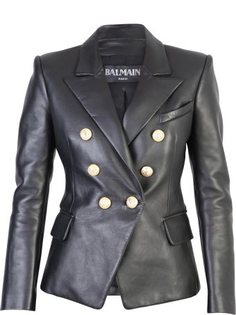 Balmain Black Double-breasted Blazer
