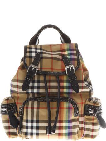 Burberry Multicolor Small Rucksack Nylon Backpack