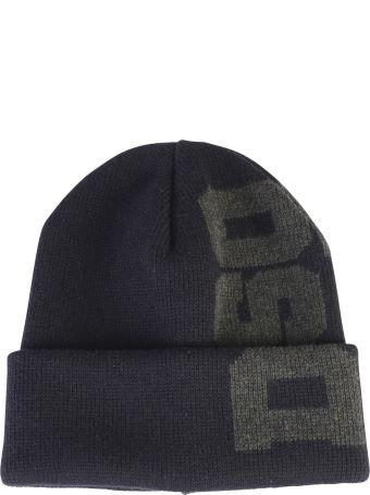 Dsquared2 Black Branded Beanie