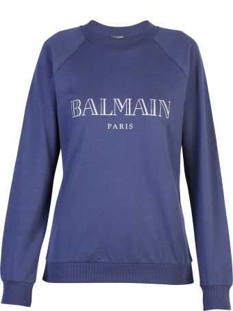 Balmain Blue Branded Sweatshirt