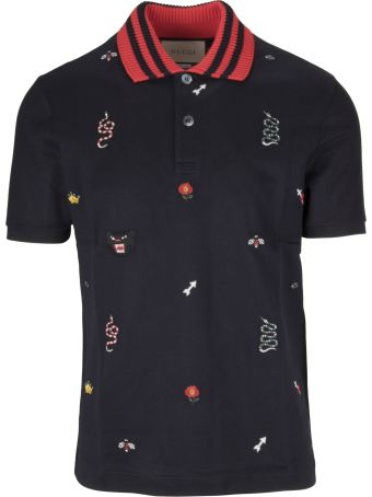 Gucci Patched Motifs Polo Shirt