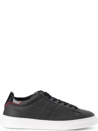 Hogan H365 Black Tar Leather Sneakers