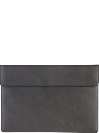 Common Projects Logo Print Leather Clutch