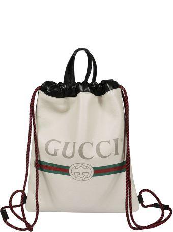 Gucci Logo Bucket Backpack