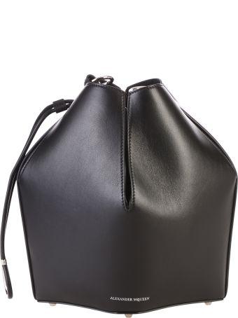 Alexander McQueen Black Bucket Bag