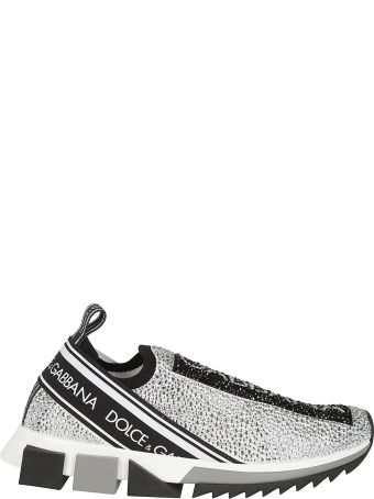 Dolce & Gabbana Crystal Embellished Slip-on Sneakers