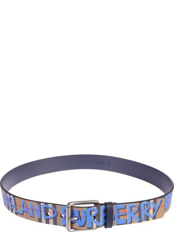 Burberry Multicolored Branded Belt