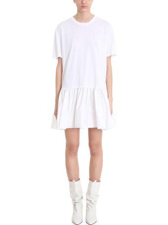 Stella McCartney Rouched White Cotton Dress