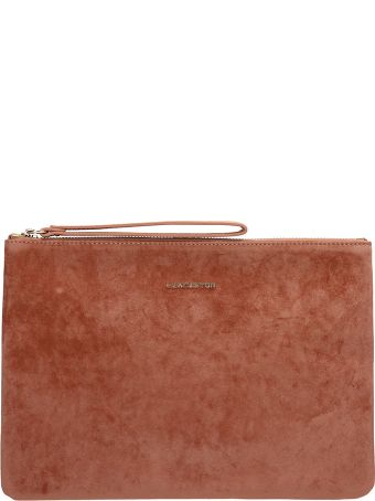 Lancaster Paris Terracotta Velvet Large Clutch