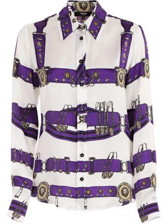 Versus Versace Logo Strap Print Shirt