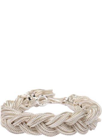 Emanuele Bicocchi Silver Twisted Bracelet